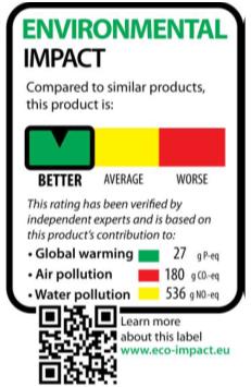 歐盟執委會討論中的環境足跡標籤(樣式2)